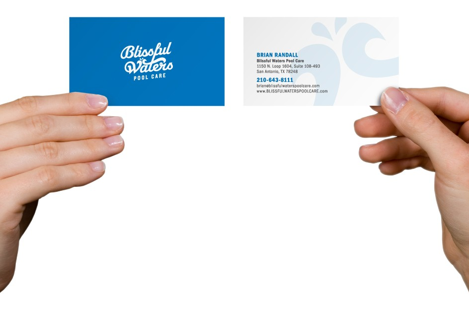 Blissful Waters Pool Care Business Cards