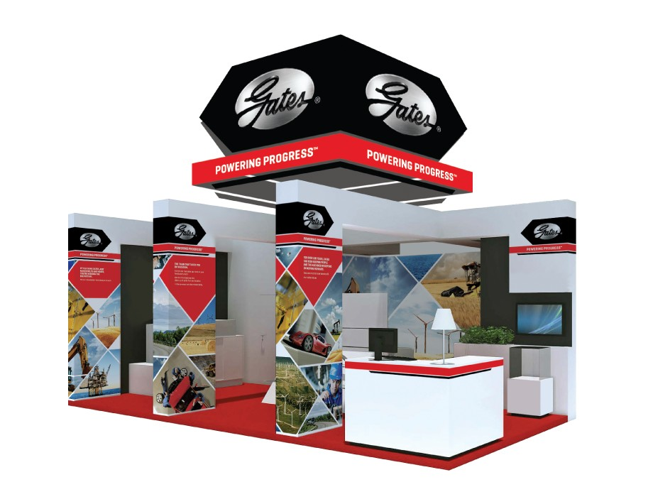 Gates Corporation Trade Show Booth