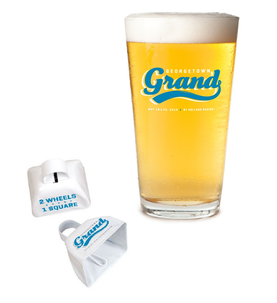 Georgetown Grand Website Logo Brand Identity Festival Expo Race Production Cowbell Pint Glass Beer