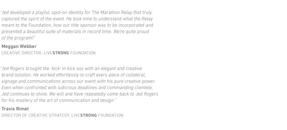 LIVESTRONG Foundation Marathon Relay Testimonial