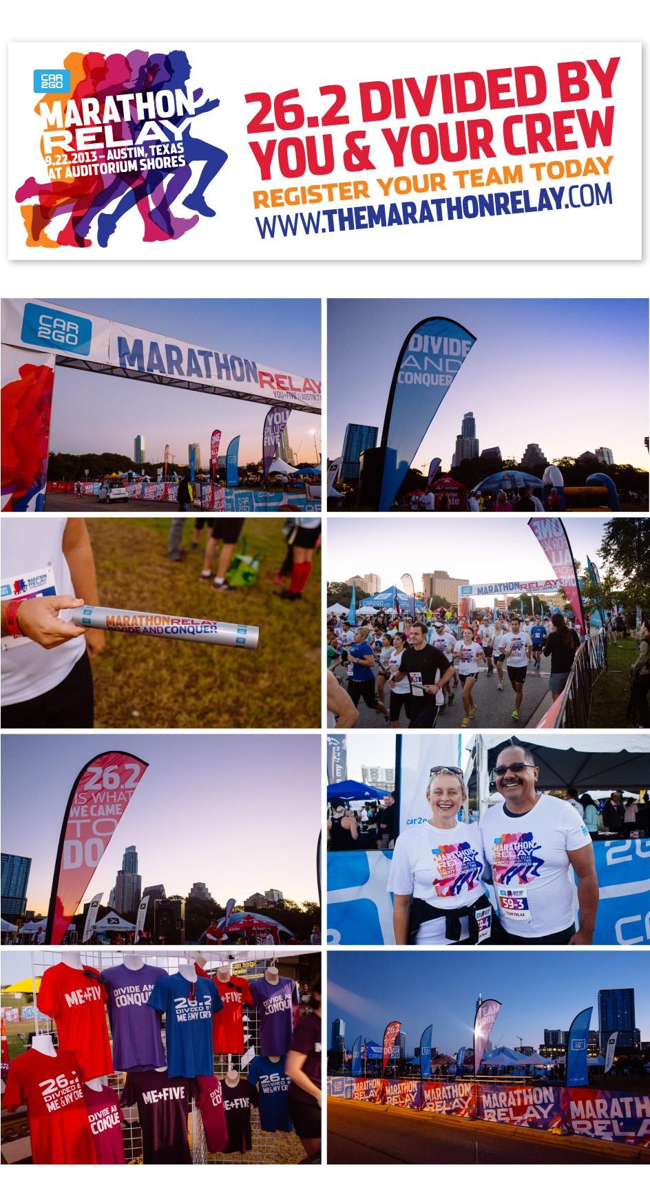 Livestrong Foundation Marathon Relay Finish Line Signage