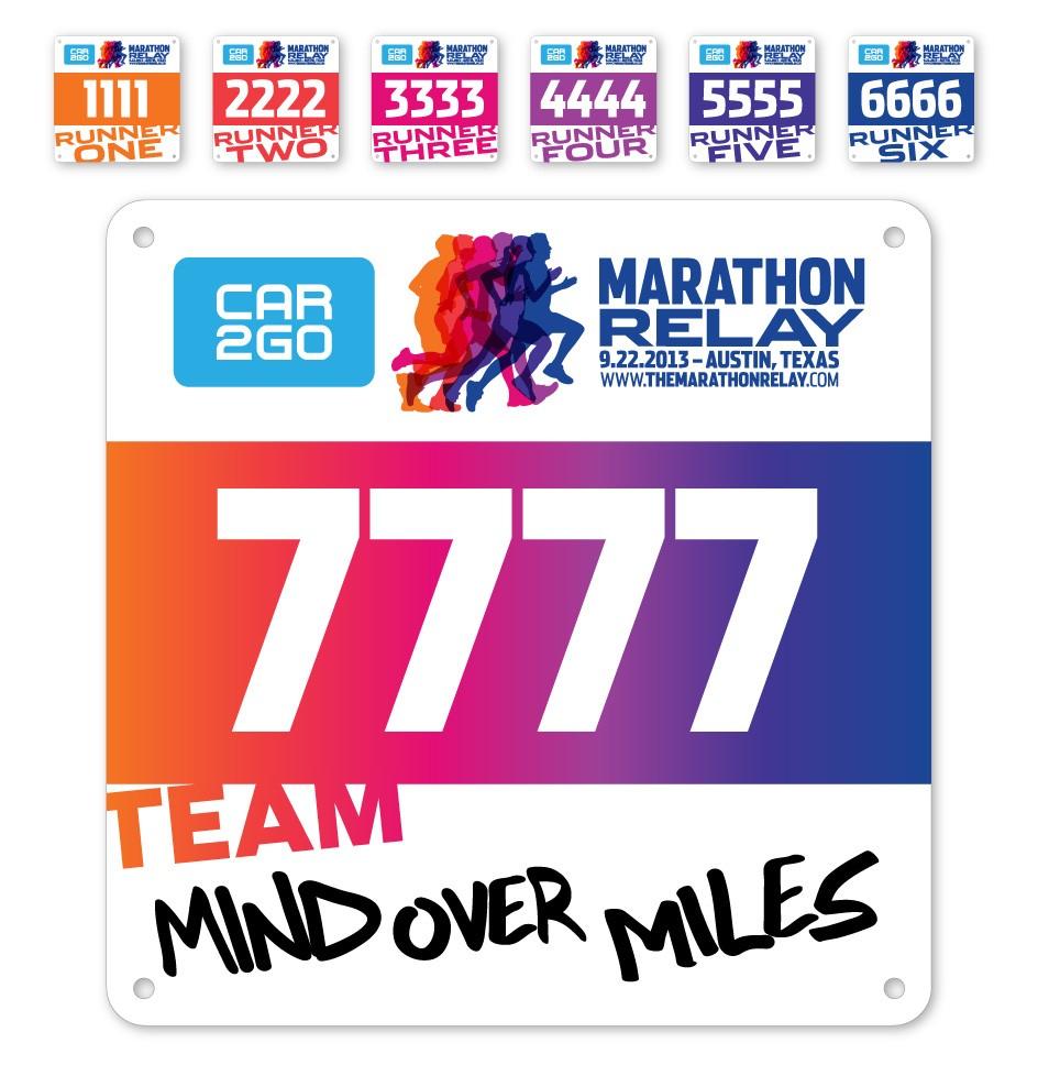 Livestrong Foundation Marathon Relay Bib Numbers