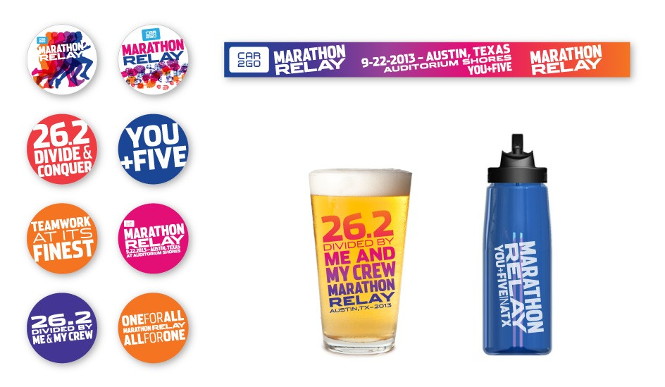 Livestrong Foundation Marathon Relay Logo Buttons Beer Wristband