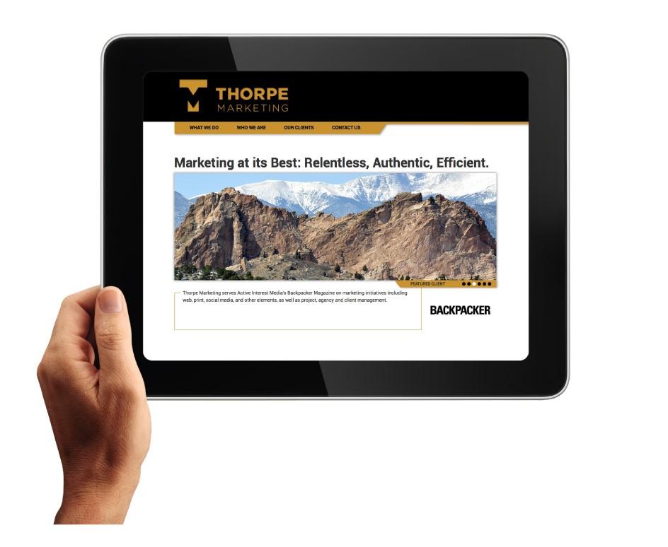 Thorpe Marketing Website Home Page