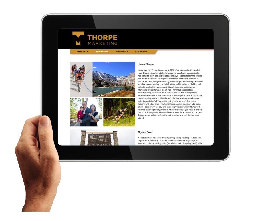 Thorpe Marketing Website Who We Are