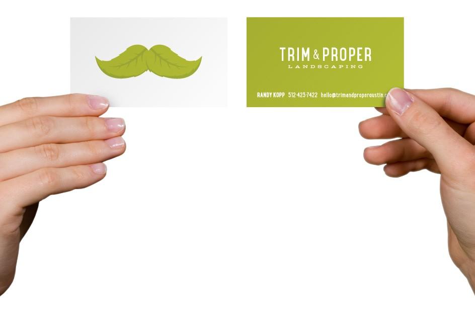 Trim & Proper Landscaping Business Card