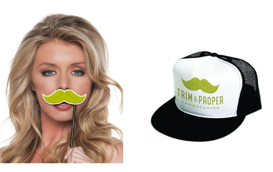 Trim & Proper Landscaping Moustache Trucker Hat